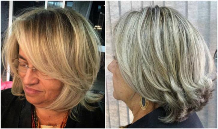 Modische Frisuren Für Frauen Ab 50 Und Haarfarben, Die Mittellang Frisuren Ab 50