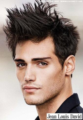 modern Frisuren Bilder: Kurzhaarschnitt im Bad Boy Style  - männer frisuren zopf undercut