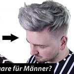 Silver Haare Für Männer?! Wie Ihr RICHTIG Blondiert & Färbt – Männer Frisuren Kurz Blond