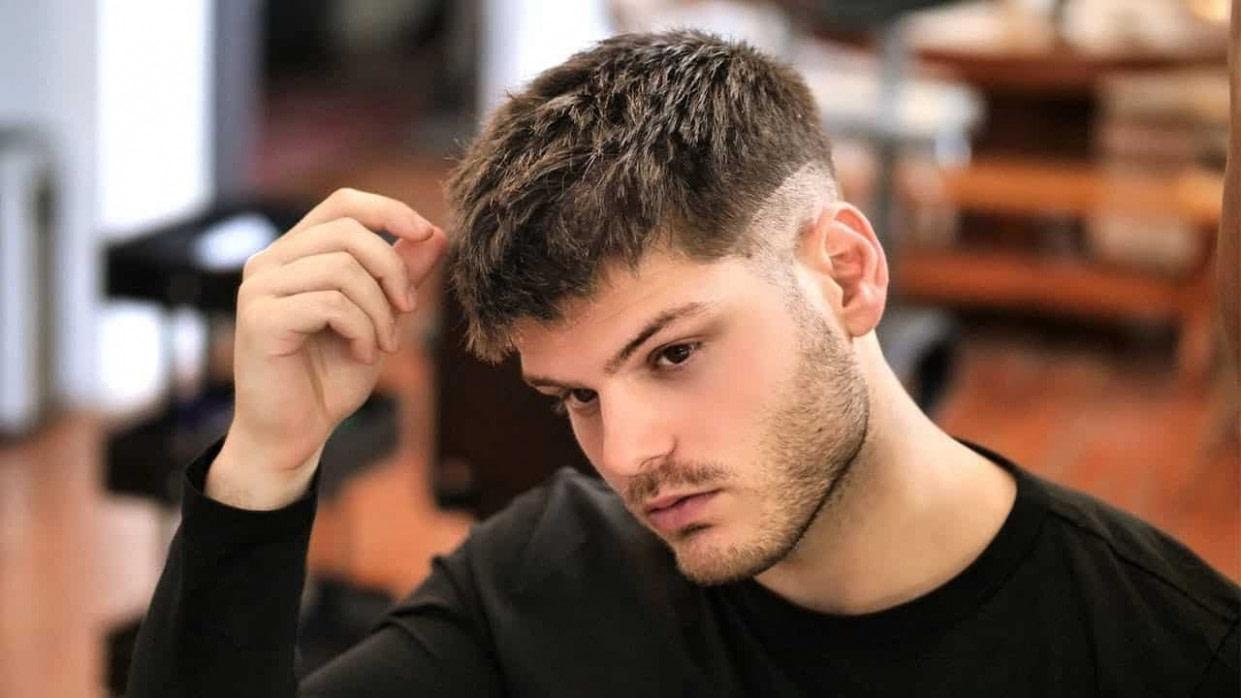 Nach Oben Frisur Kurz Haare Männer Modell- - Männer