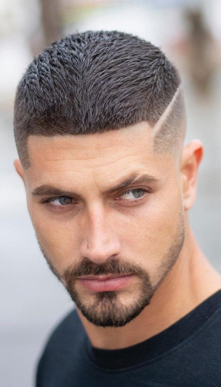 Schön Männer Frisuren Kurz Mit Bart Farbe - Männer