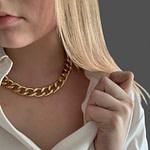 Frauen Thick Kubanischen Link Kette Choker Halsketten Für Männer  – Hip Hop Frisuren Männer
