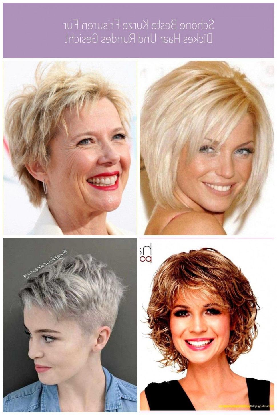 Schöne Beste Kurze Frisuren Für Dickes Haar Und Rundes Gesicht Frisuren Frauen Rundes Gesicht