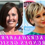 Kurzhaarfrisuren Rundes Gesicht 12 Frisuren Für Dickes Haar Und Rundes Gesicht