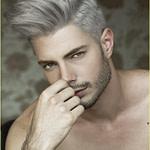 Frisuren Männer Seiten Kurz Oben Lang In 12  White Hair Men  – Männer Scheitel Frisuren