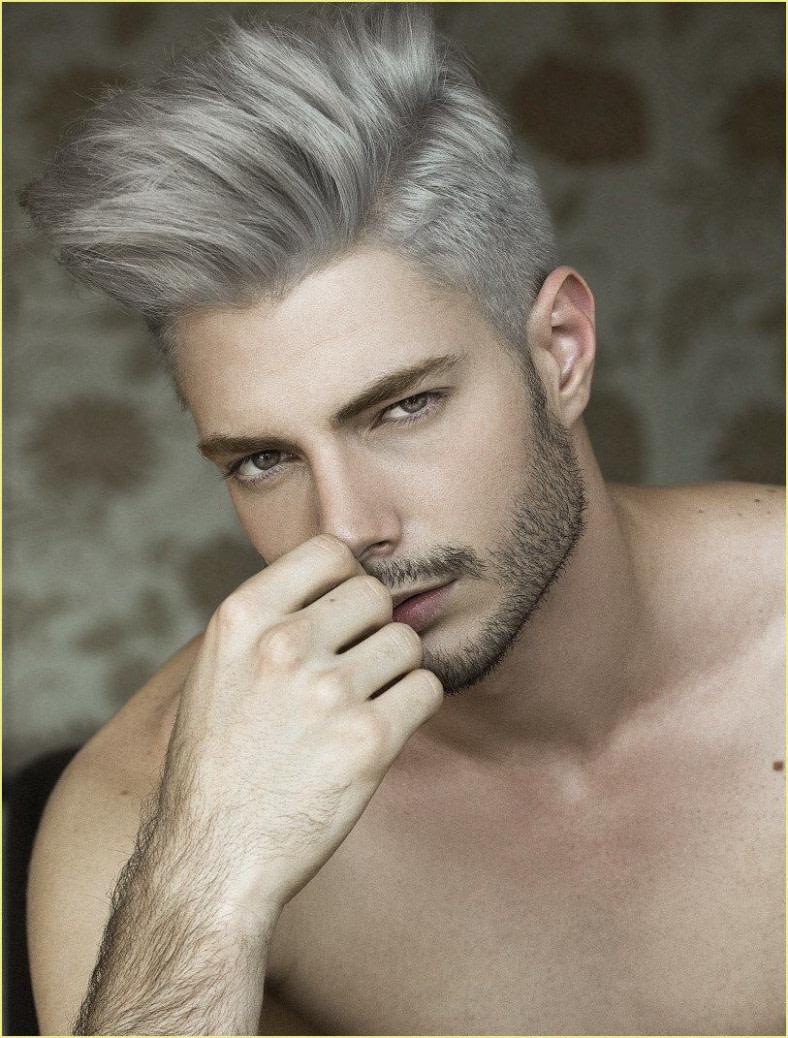 Frisuren Männer Seiten Kurz Oben Lang In 12  White Hair Men  - Männer Scheitel Frisuren