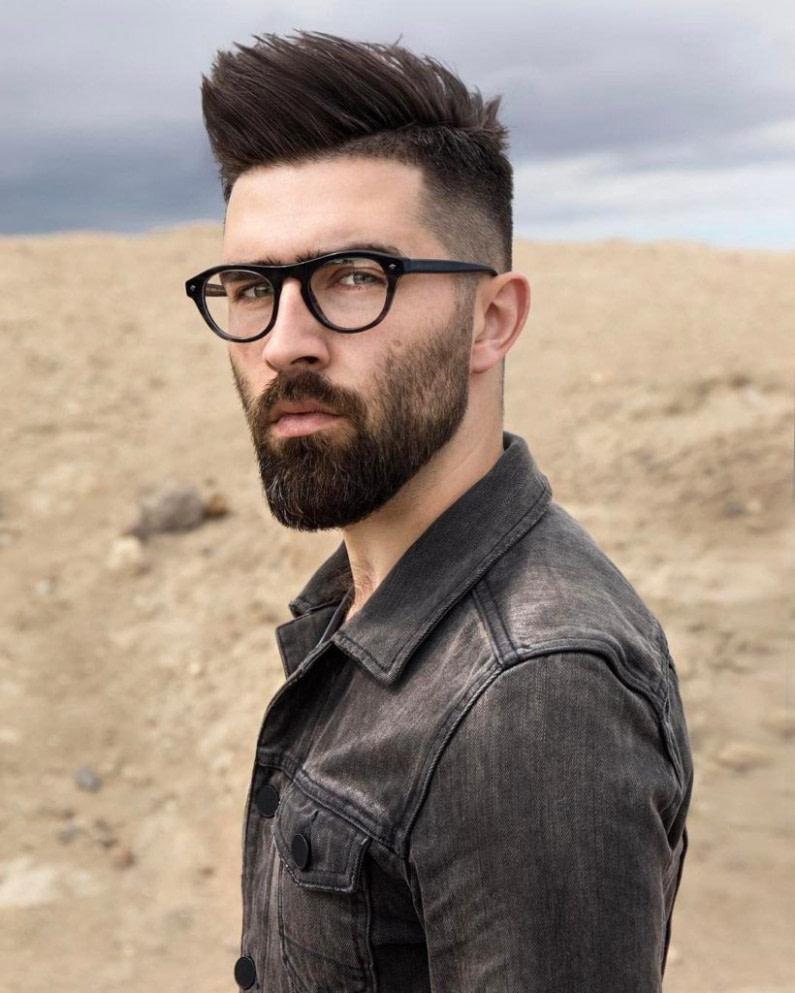 Schönheit 17 Herrenfrisuren mit Brille, um cool und stylish aussehen # Da