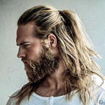 Ponytail Style For Men – #hairs #longpromdresses #men #  – Vikings Frisur Männer