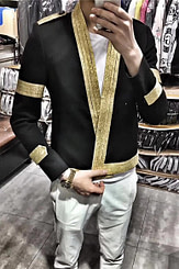 Nach oben Männer Anzug Mantel Männlichen Trend Hip-hop Blazer Mann der Anzug Herbst  Nacht Frisur Division Persönlichkeit Lose Mantel Jacke flut