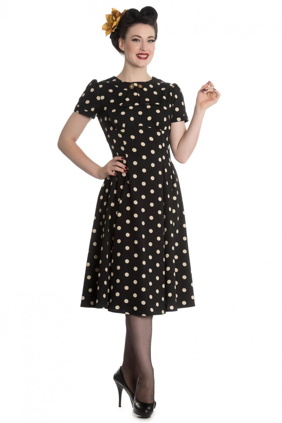 Schönheit Madden 15er Jahre retro Polka Dots Kleid v. Hell Bunny  Suicide Glam