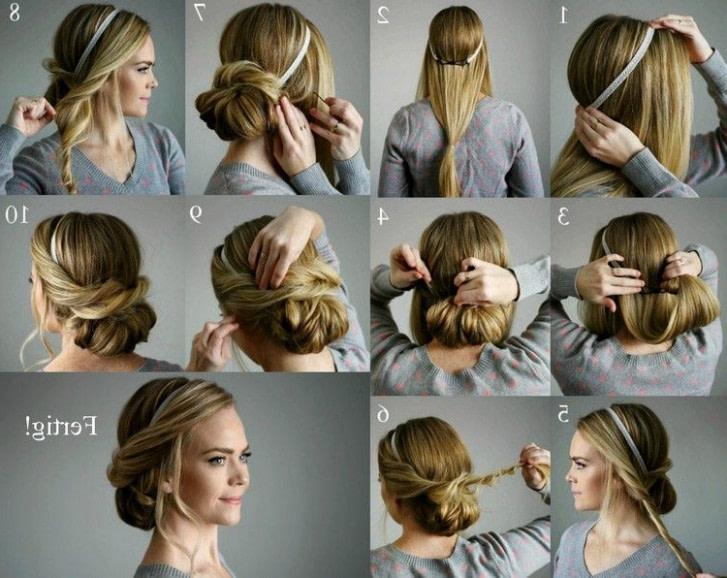 nach oben festliche frisuren lange haare selber machen