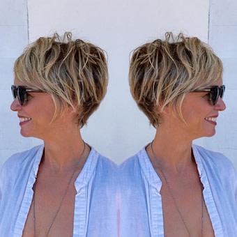 Kurze frisuren bei rundem gesicht – Beliebte Frisuren 12