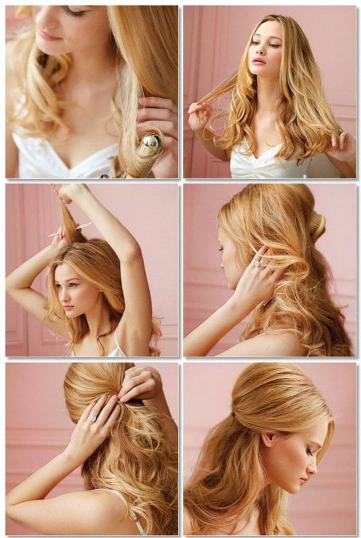 Schönheit Frisuren Halblang Selber Machen - world-andie