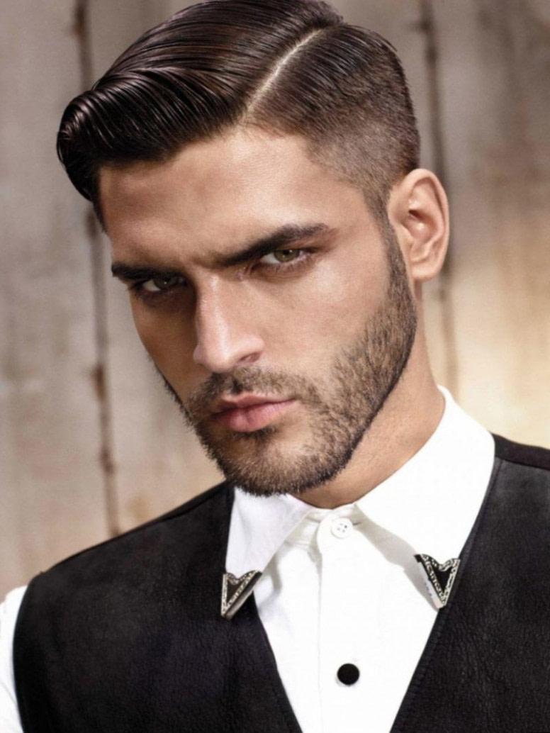 schön männer frisuren scheitel kurz bilder - männer
