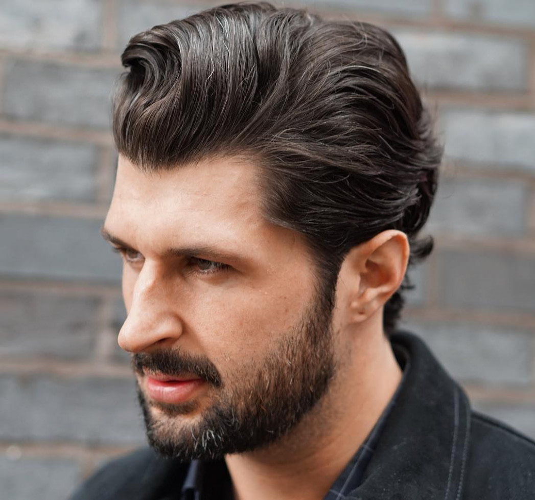 genial 19 attraktivsten Slicked Back Frisuren für Männer #frisur  - kurzschnitt frisuren männer