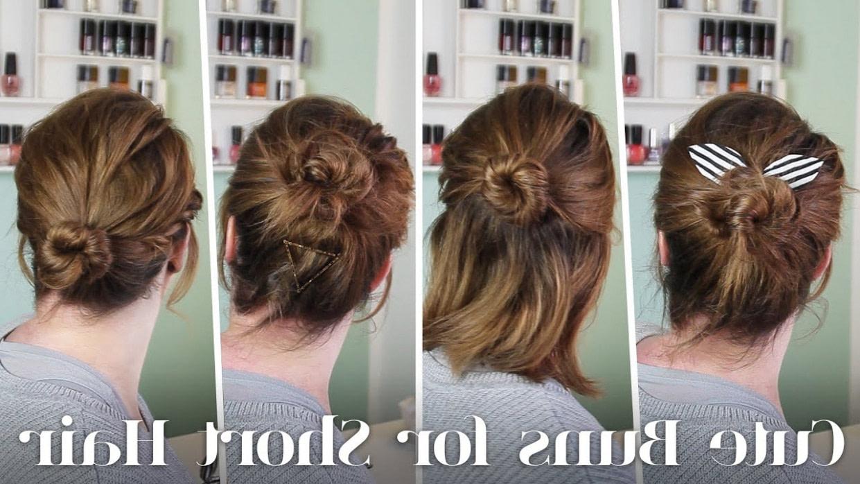 frisuren für kurze haare // 12 dutt varianten für kurze haare kurze haare frisuren selber machen