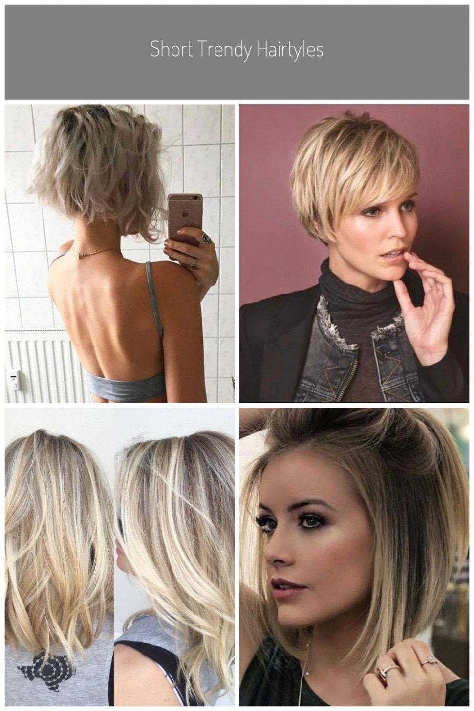 Short Trendy Hairtyles #halblang haare 12 in 12  Hairtyles